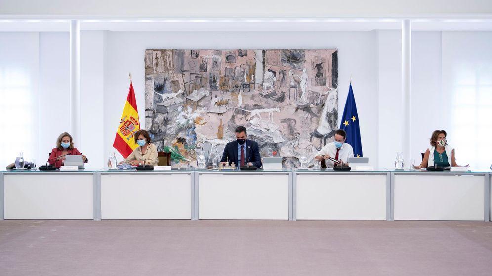 Foto: El presidente del Gobierno, Pedro Sánchez, preside el Consejo de Ministros. (EFE)