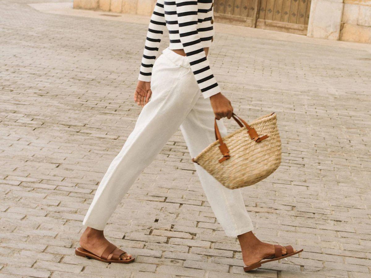 Foto: Pantalones de lino de Mango. (Cortesía)