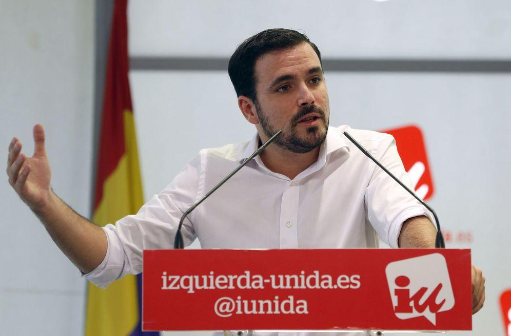Foto: Alberto Garzón, durante su intervención en el arranque de la asamblea político y social, este 16 de julio. (EFE)