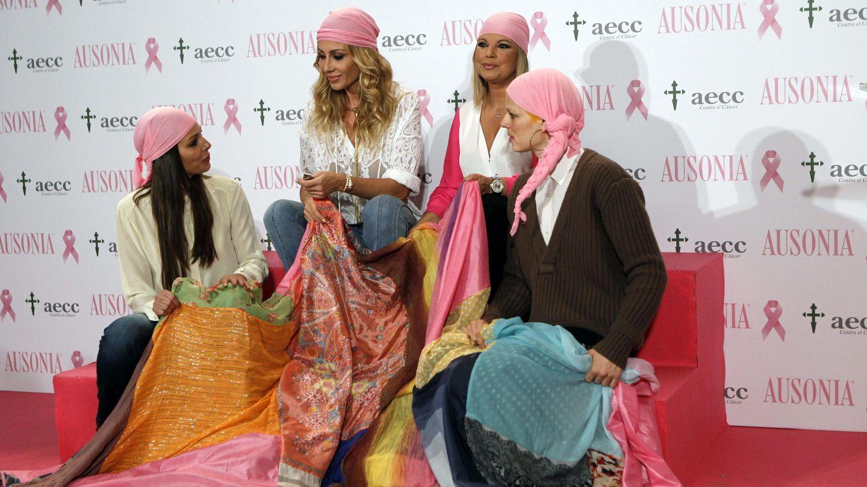 Eva González, Marta Sánchez, Terelu Campos y Bimba Bosé, en una campaña contra el cáncer. (EFE)