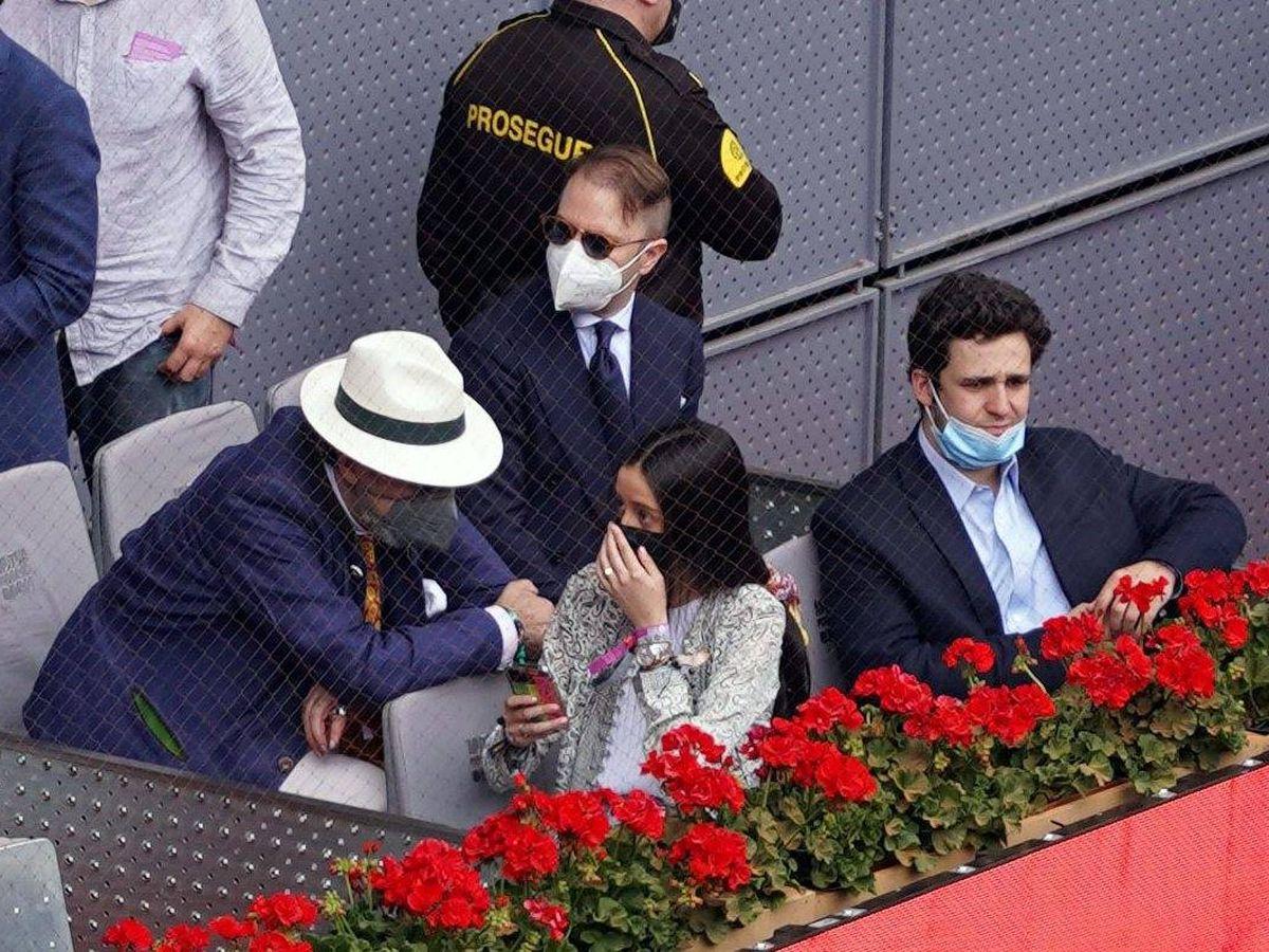 Foto: Jaime de Marichalar, Felipe Juan Froilán y Victoria Federica en el Mutua Madrid Open de tenis 2021. (CP)