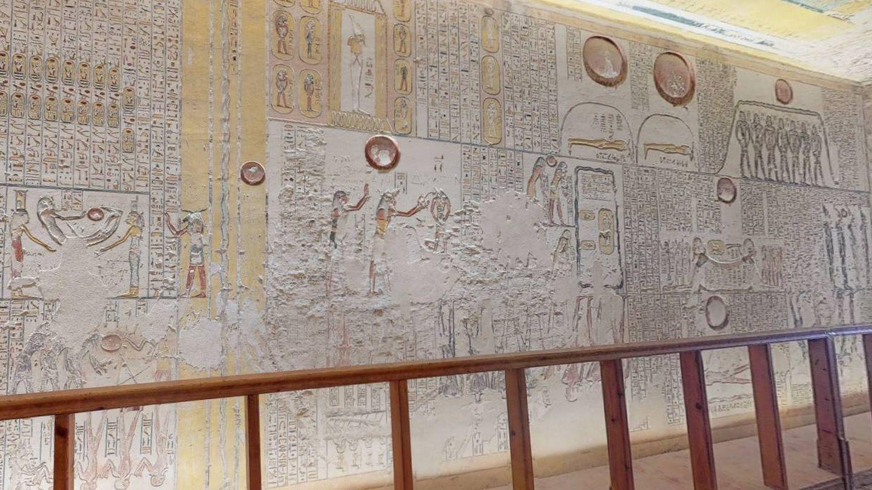 Visita virtual a la tumba del faraón Ramsés VI.