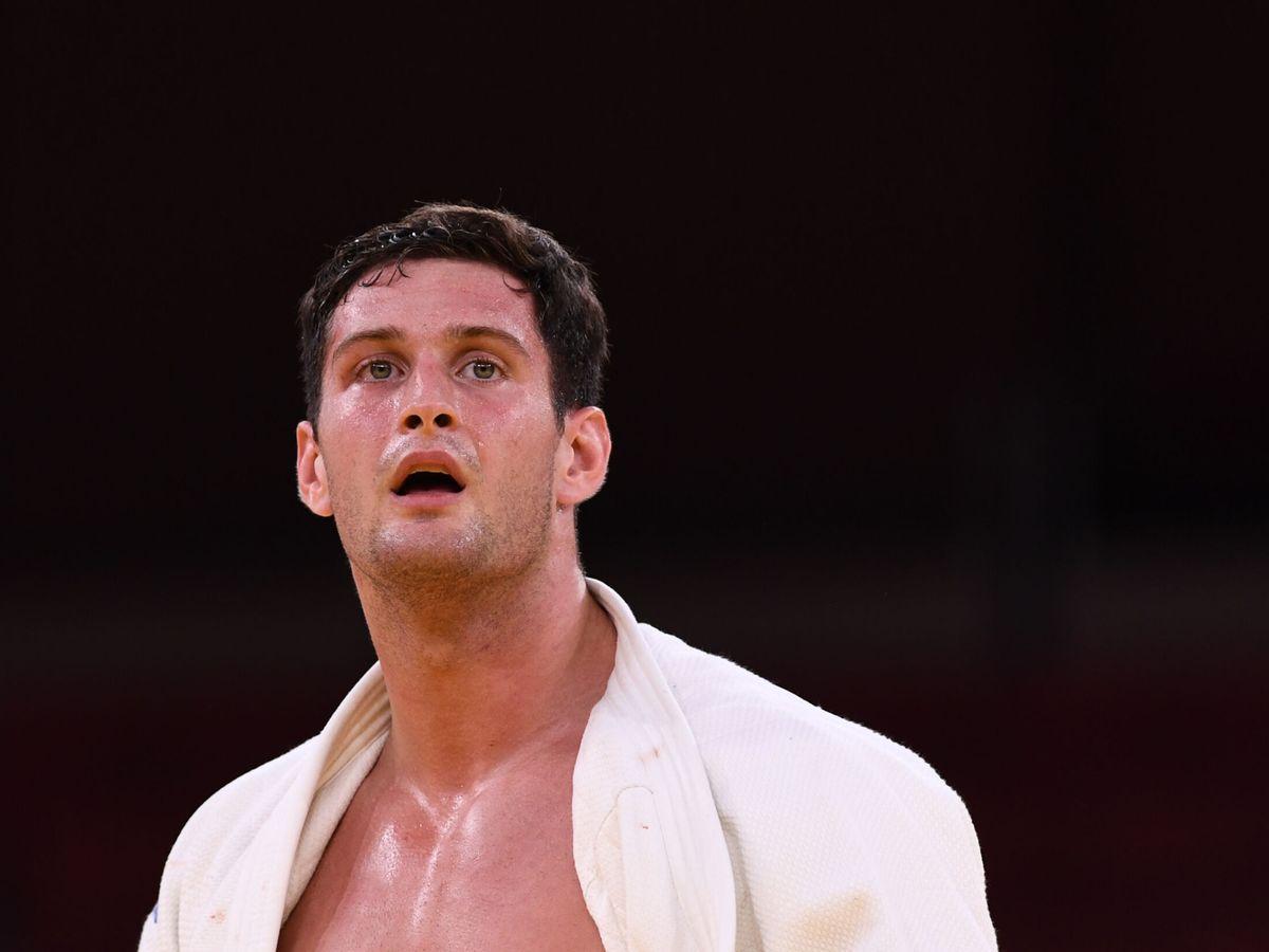 Foto: El judoca Nikoloz Sherazadishvili, dos veces campeón mundial, se quedó sin poder luchar por una medalla en Tokio 2020. (Reuters)