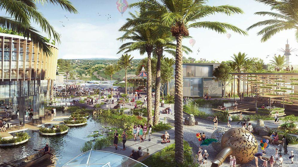 Foto: Figuración del proyecto modificado del centro comercial y de ocio de la británica Intu en Paterna.