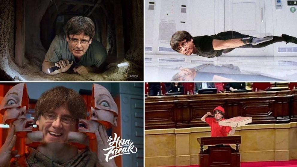 Puigdemont, camuflado: Twitter le enseña a colarse en el Parlament
