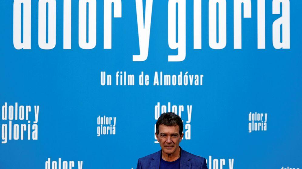 Foto: Antonio Banderas, en la presentación este martes de 'Dolor y gloria', en Madrid. (Reuters)