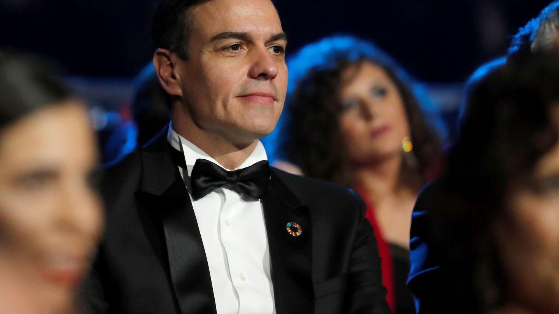 Pedro Sánchez, durante la gala de entrega de los Premios Goya 2020. (EFE)