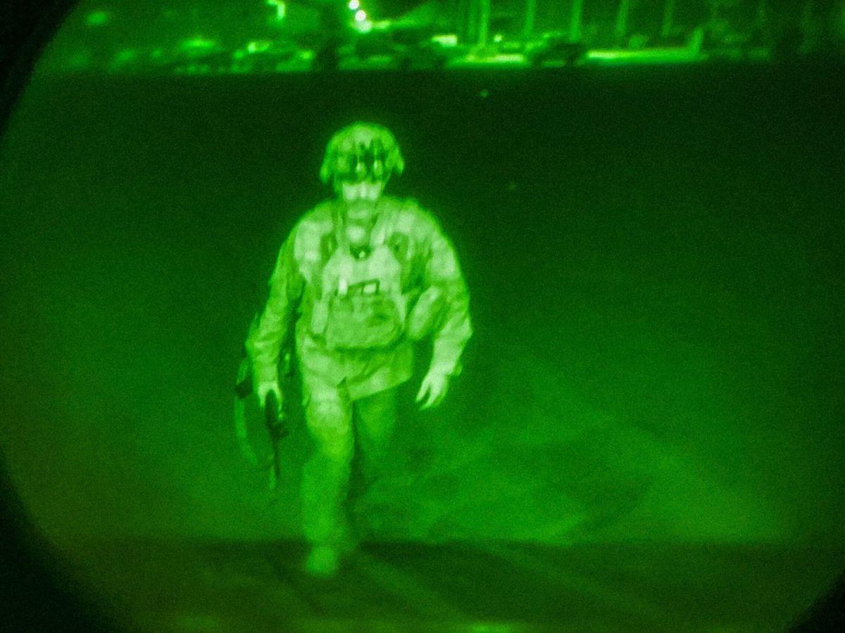 Foto: Un mayor general fue el último soldado de EEUU en salir de Afganistán. (EFE)