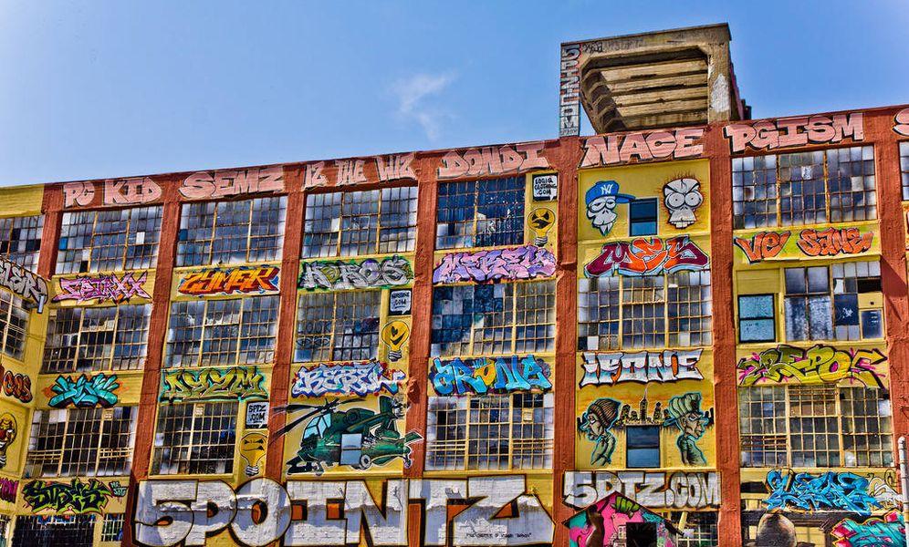 Foto: 5Pointz, el edificio neoyorquino en el que se encontraban los grafitis. (Flickr)
