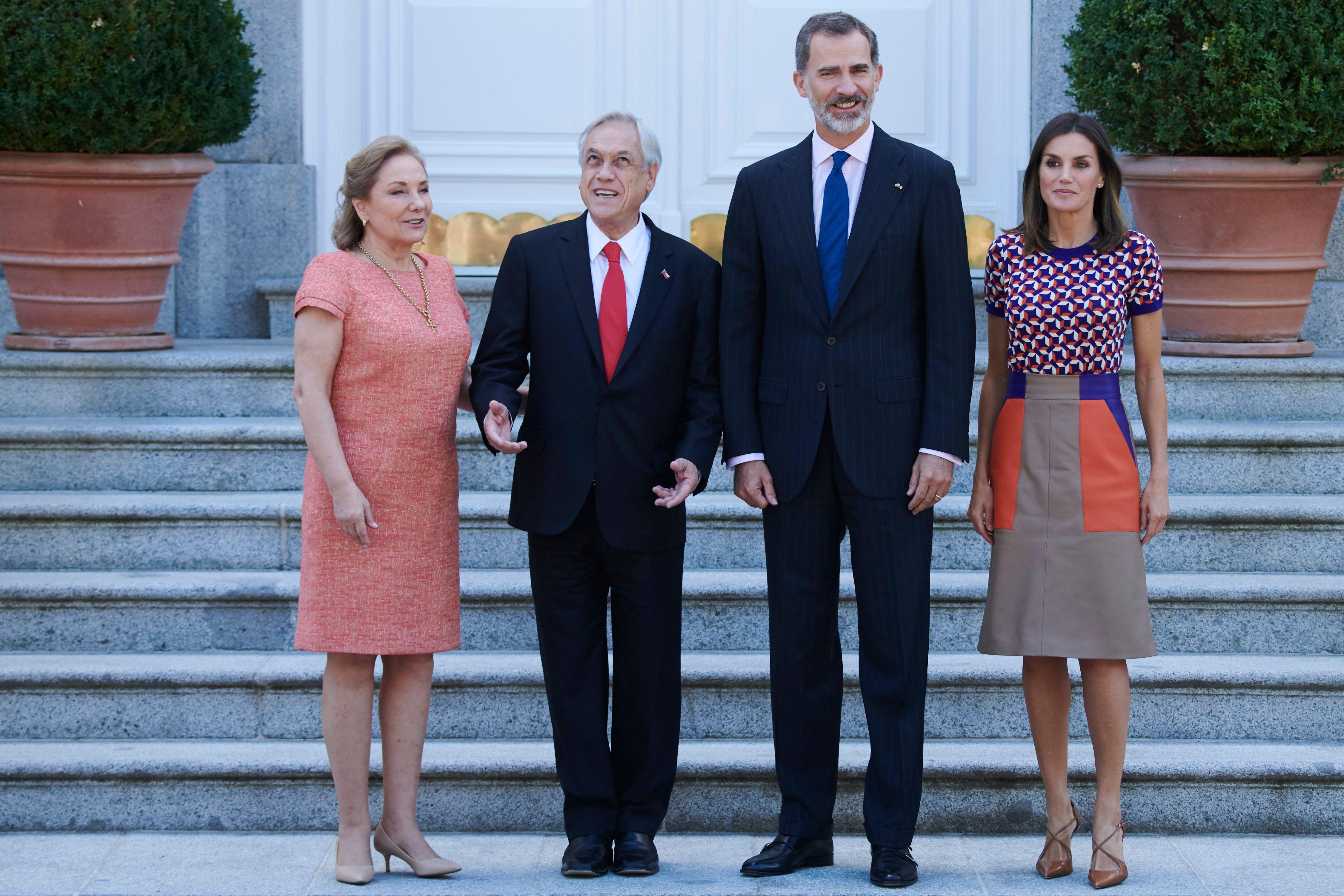 Los Reyes con el presidente y la primera dama de Chile. (Limited Pictures)