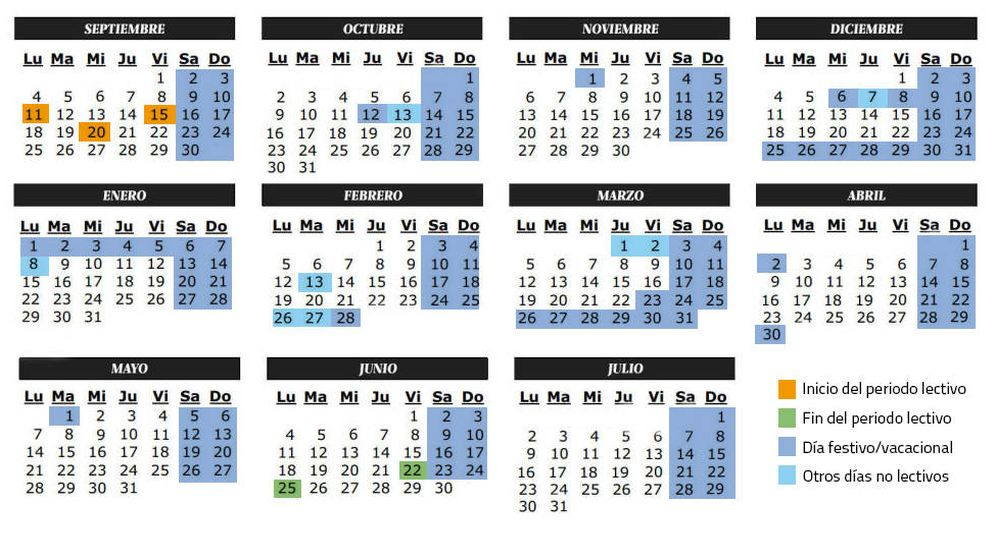 Calendario Sevilla.Calendario Calendario Escolar Del Curso 2017 2018 Festivos Y