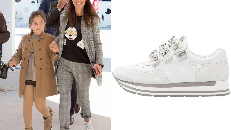 Paula Echevarría y sus zapatillas con perlas de Kennel   Schmenger. (Gtrres)