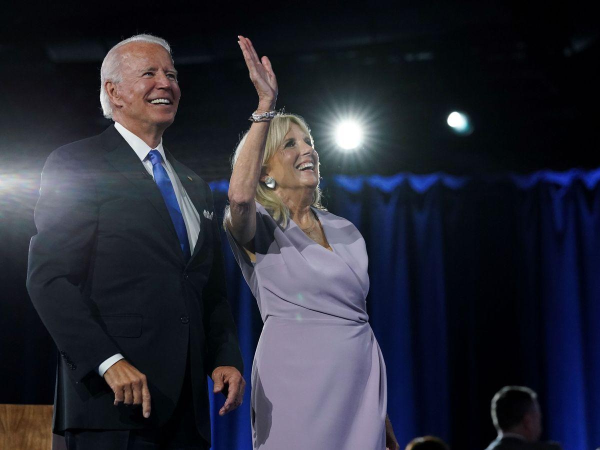 Foto: Joe y Jill Biden, el pasado fin de semana en la Convención Demócrata. (Reuters)