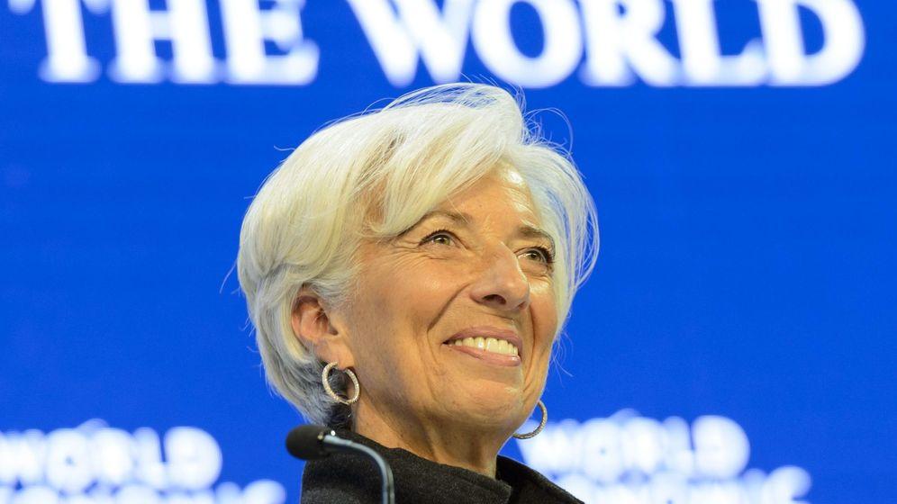 Foto: La directora gerente del FMI, Christine Lagarde, en el reciente Foro Económico de Davos. (EFE)