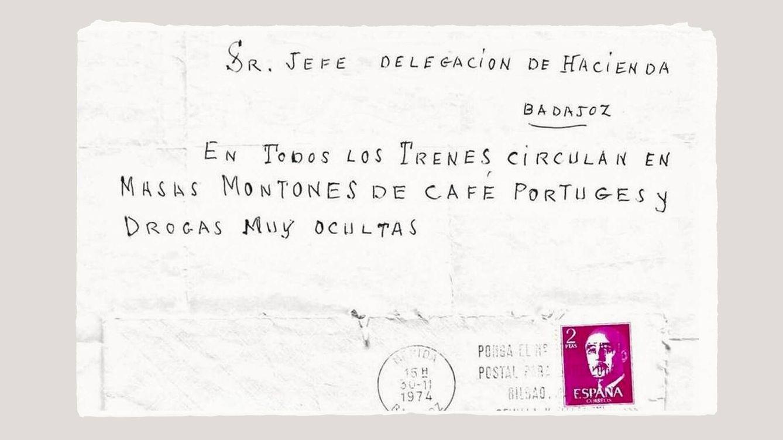 Foto: Una de las denuncias anónimas enviadas a la Delegación de Hacienda en Badajoz, fechada en 1974. (EC)