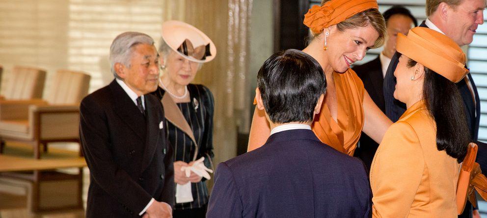 Foto: Máxima y Masako escenifican su amistad en Japón
