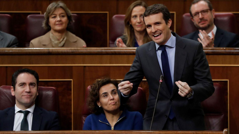 Foto: Pablo Casado en el pleno del Congreso. (EFE)