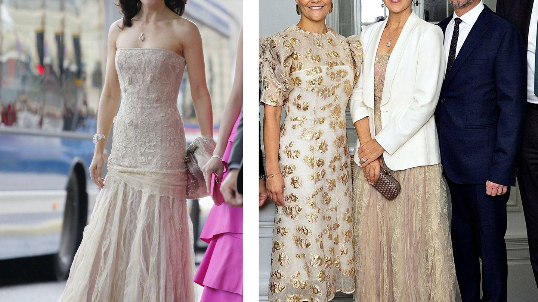 Mary, con el vestido en 2010 y en 2019. (Getty / EFE)