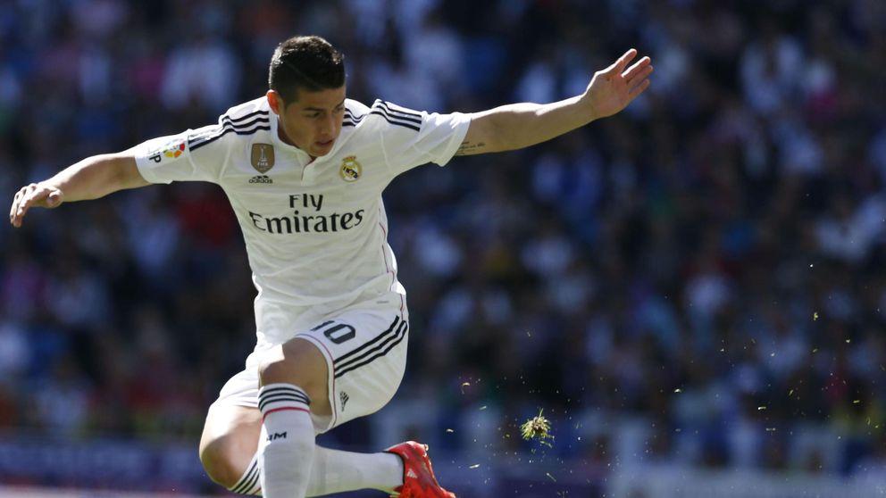 James pisa el once del Real Madrid con el cuchillo entre los dientes