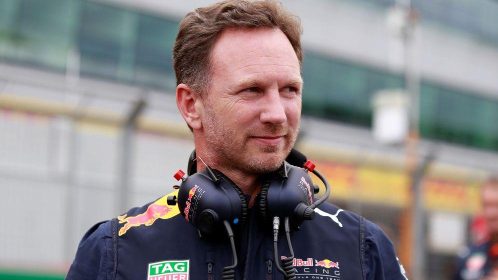 Foto: Christian Horner, jefe de equipo de Red Bull, en una carrera de 2017. (Reuters)