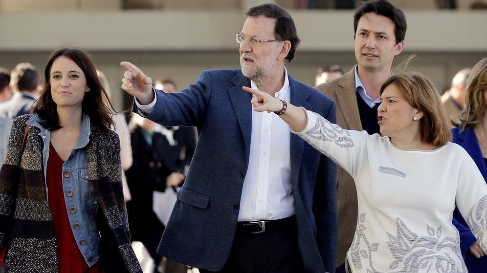 Foto: Andrea Levy, Rajoy, Vicente Betoret e Isabel Bonig. (EFE)