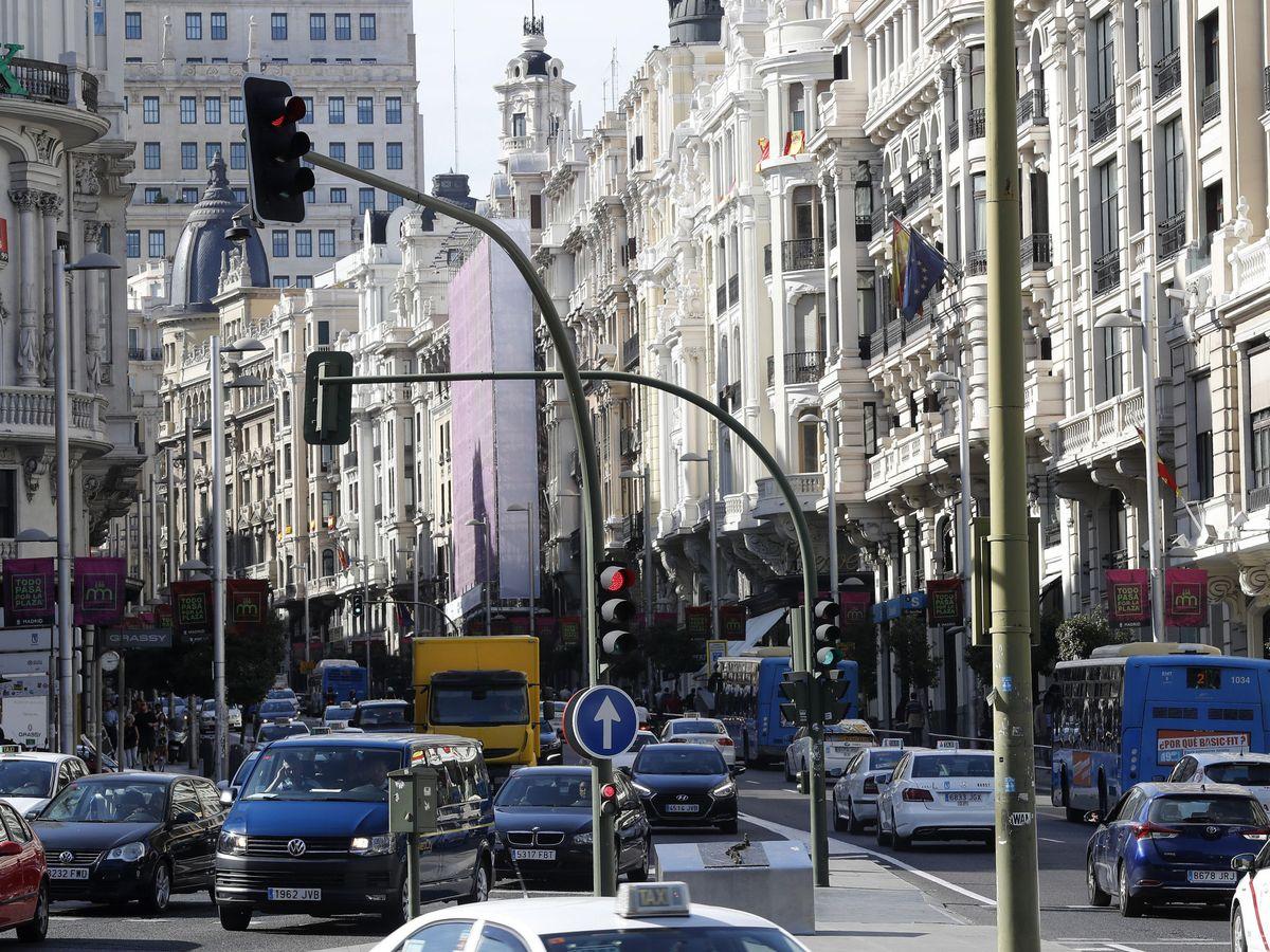 Foto: La gran vÍa de Madrid (EFE)