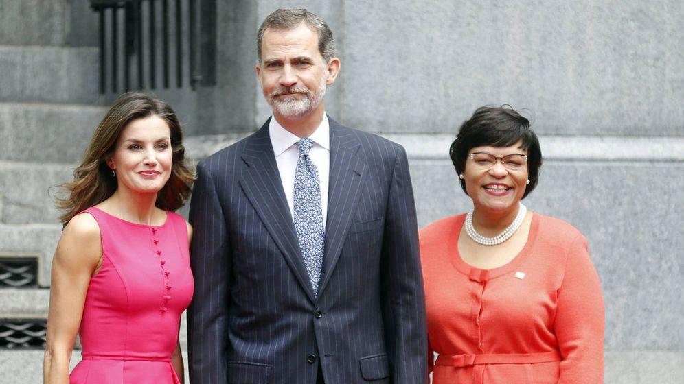 Foto: Los Reyes con la alcaldesa de Nueva Orleans. (Gtres)