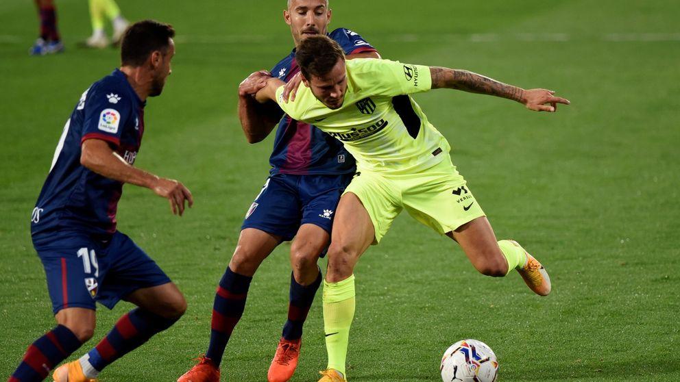 Un Atleti sin filo se deja dos puntos ante el Huesca en un partido para olvidar (0-0)