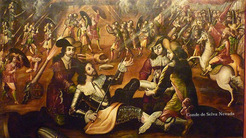 Herido en la batalla de Pamplona.