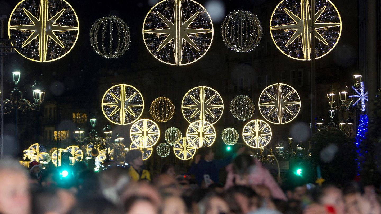 Alumbrado navideño en Vigo en 2019. (EFE)