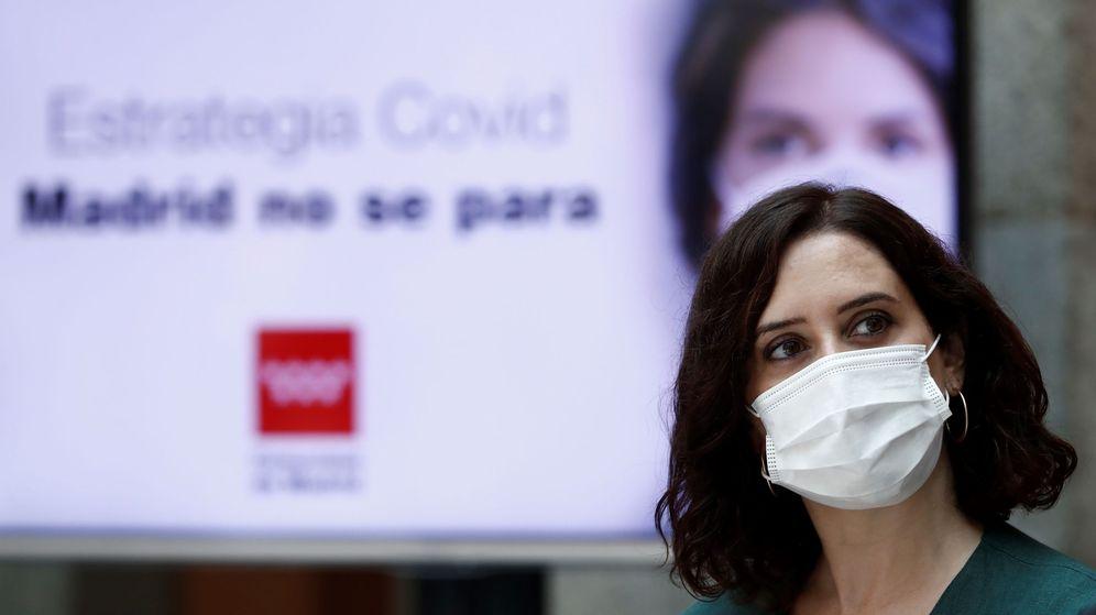 Foto: Ayuso presenta la estrategia contra el covid. (EFE)