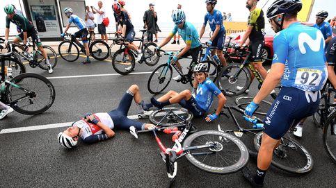Medio pelotón se cae en la primera etapa del Tour: Hoy no ha sido muy azul la Costa Azul