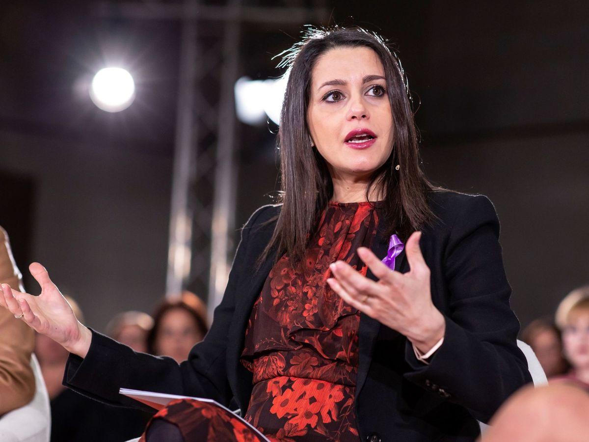 Foto: La presidenta y portavoz del Grupo Parlamentario de Ciudadanos en el Congreso de los Diputados, Inés Arrimadas. (EFE)