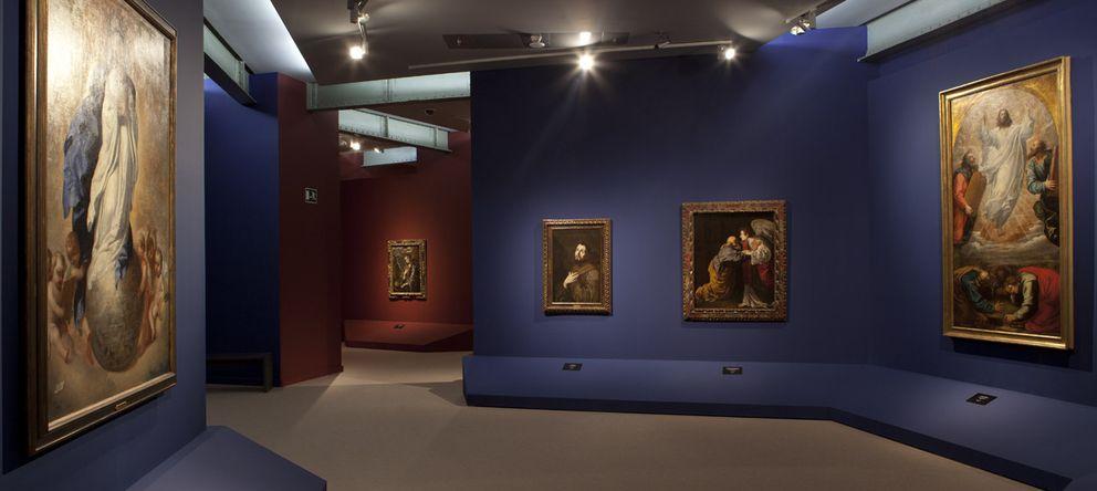 Foto: Vista de la sala de la exposición en el Ayuntamiento dedicada a la Colección Masaveu.