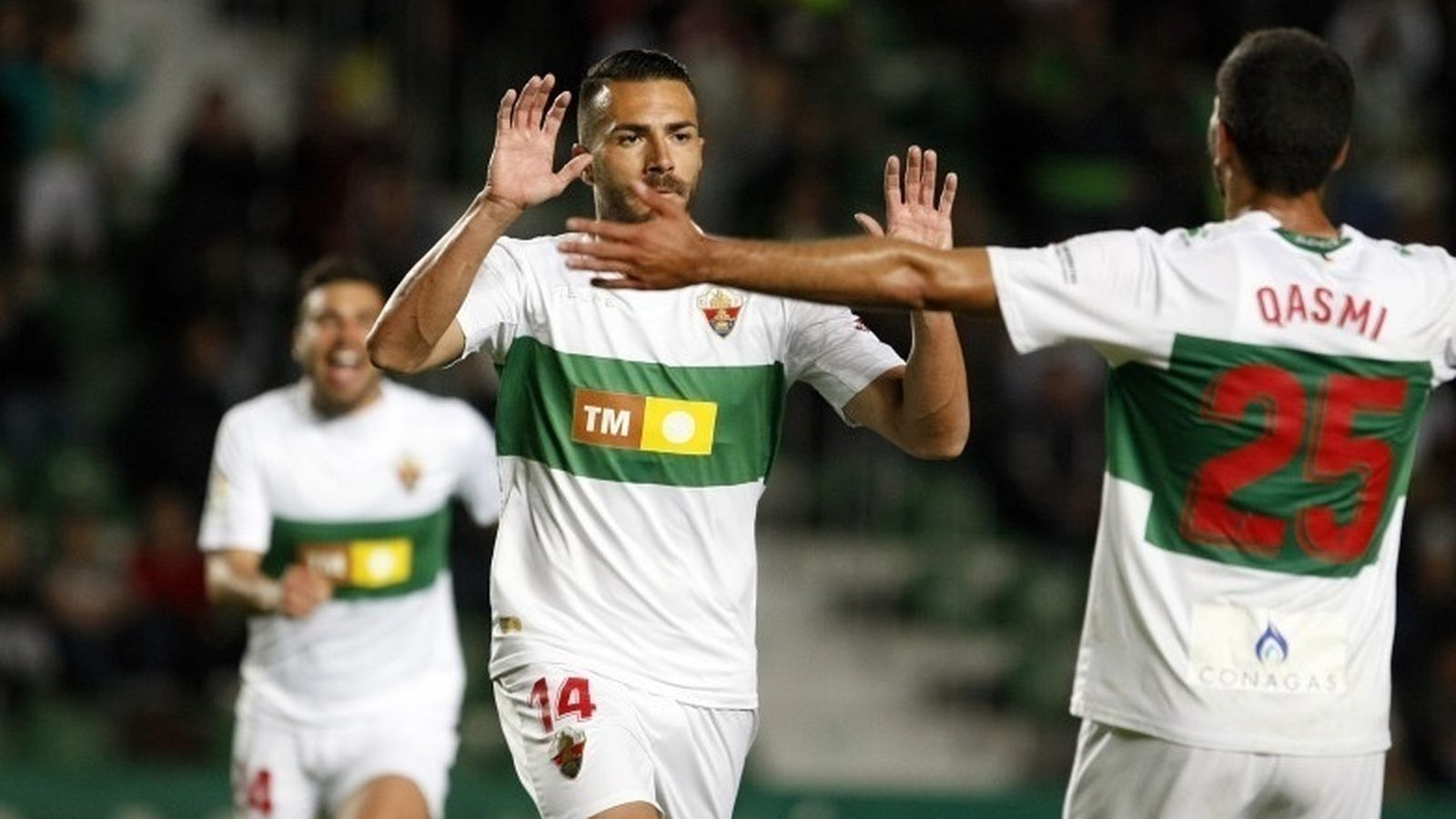 Foto: Jugadores del Elche celebran un gol. (Europa Press)