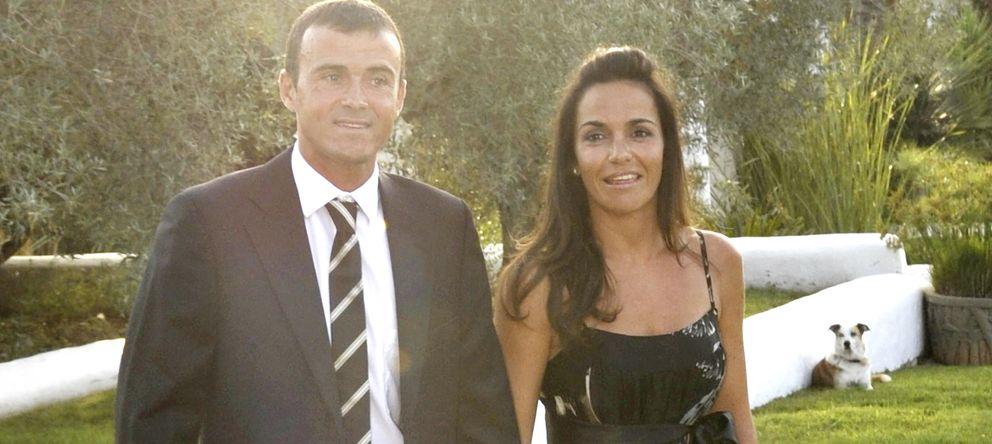Foto: Luis Enrique y Elena Cullell en una imagen de archivo en la boda de Cañizares con Mayte García (Gtres)