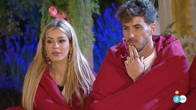Oriana e Iván, en 'La casa fuerte'. (Telecinco)