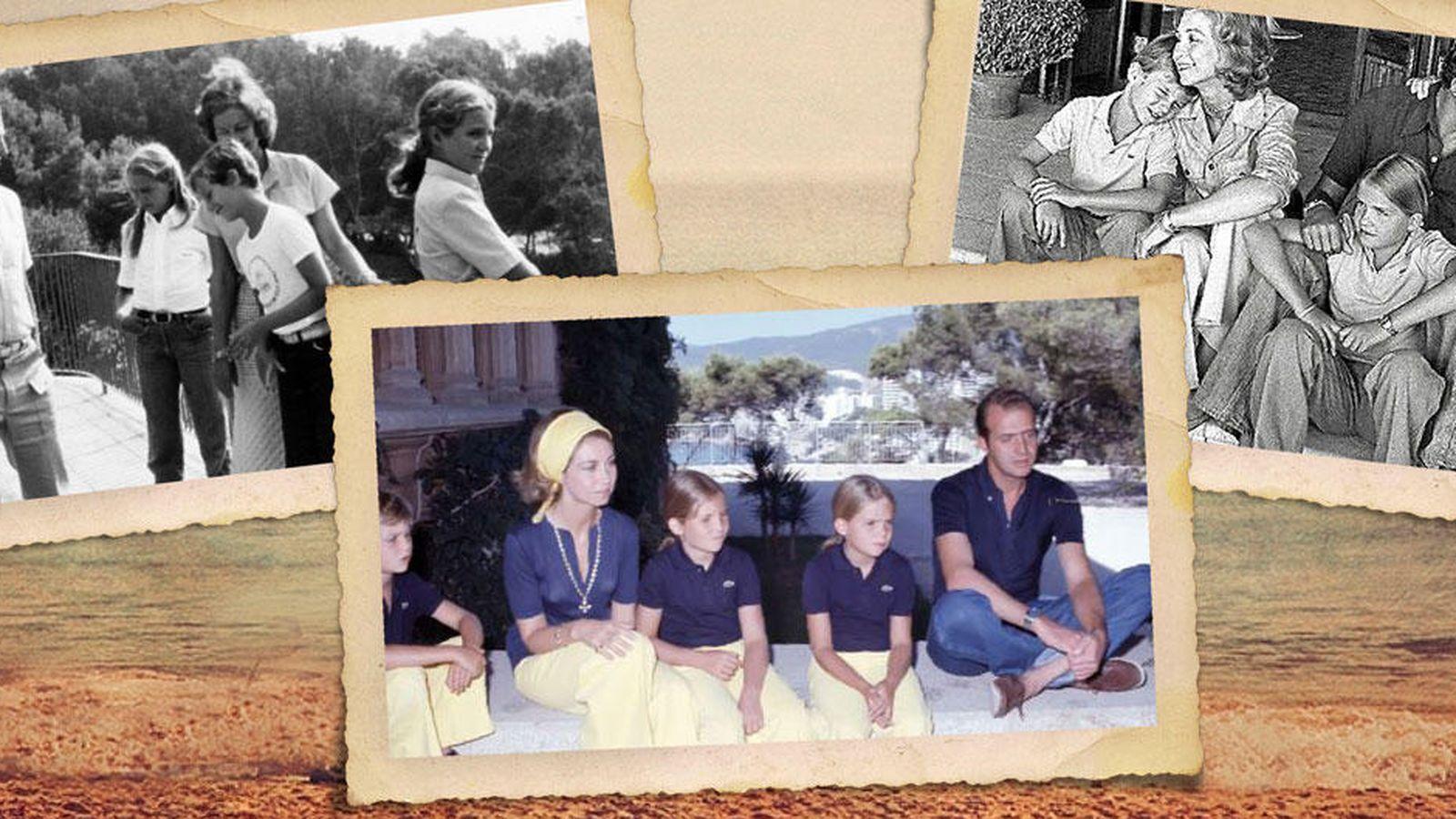 Foto: Imágenes de los reyes, el Príncipe y las infantas en el verano del 75 (Vanitatis)