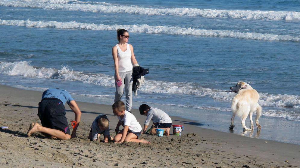 Foto: Familia en la playa