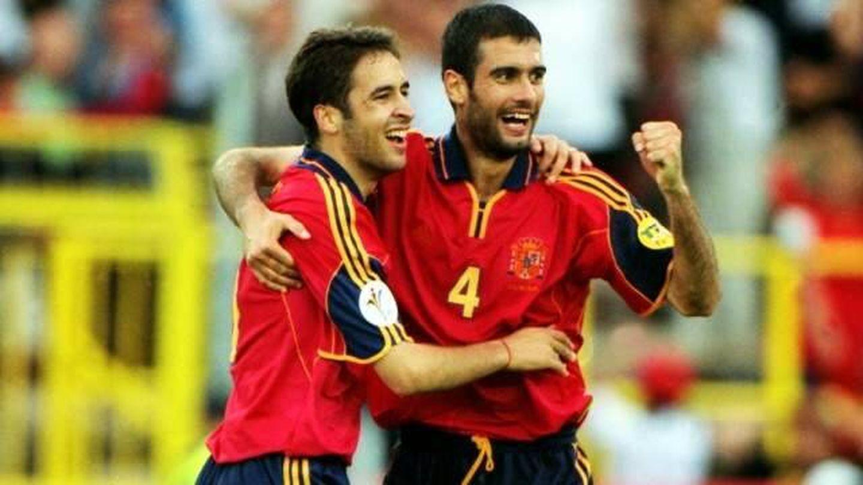 Raúl González y Pep Guardiola. (Imagen de archivo)