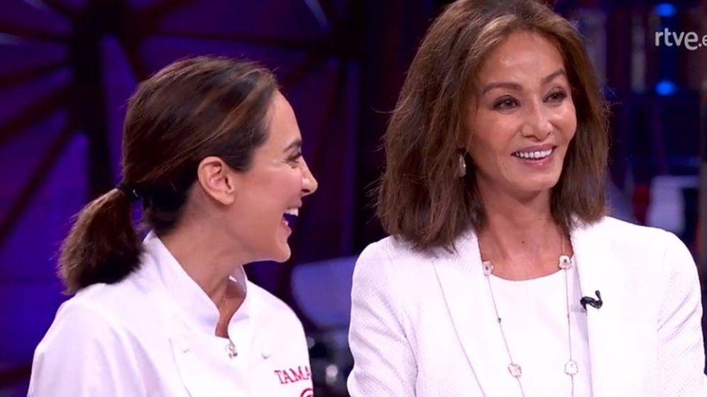 Foto: Tamara Falcó e Isabel Preysler, en la final de 'MasterChef Celebrity'. (RTVE)