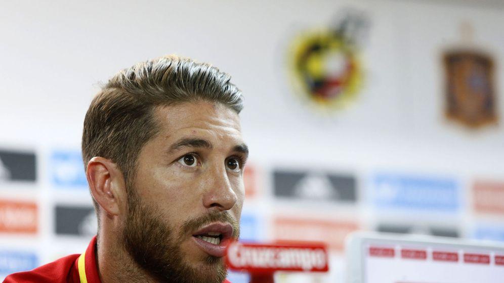 Foto: Sergio Ramos durante su rueda de prensa de este jueves. (EFE)