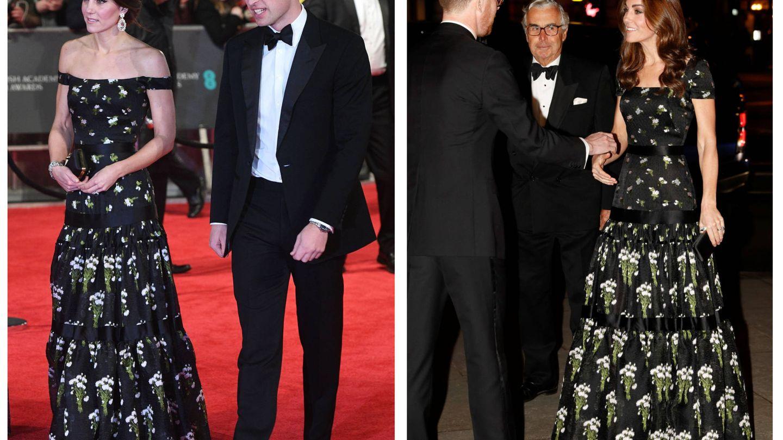 Con el vestido de Alexander McQueen. (EFE / Reuters)