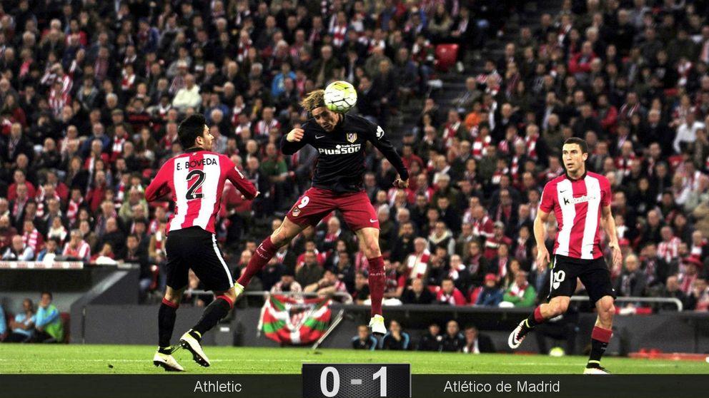 La cabeza de Torres,  el salvoconducto para que el Atlético siga en la pelea