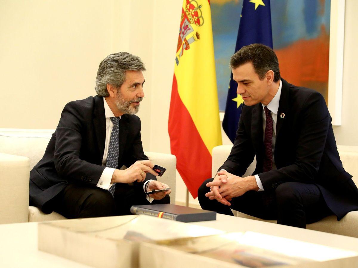 Foto: Pedro Sánchez y Carlos Lesmes. (EFE)