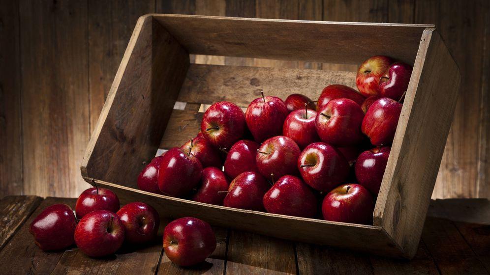 Foto: Caja de manzanas orgánicas. (iStock)