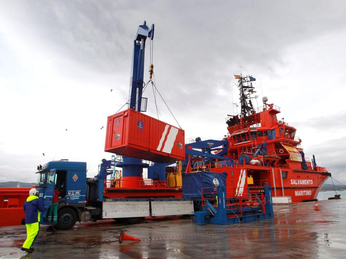 Foto: Labores de búsqueda del pesquero Rúa Mar, el pasado enero. (EFE)