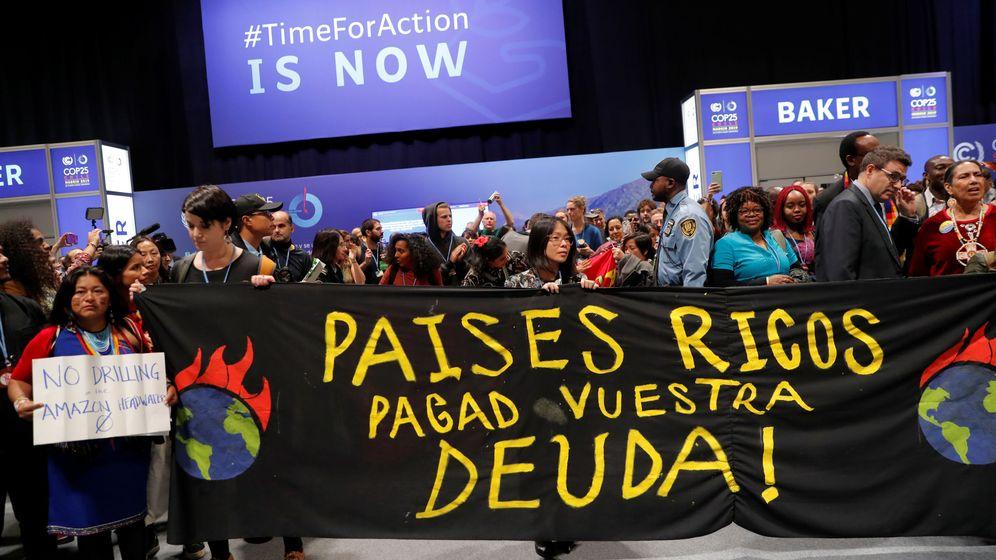 Foto: Activistas ambientales protestan en la COP25. (Reuters)