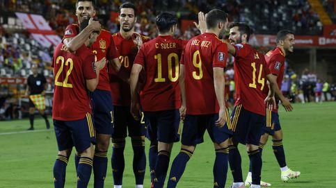 España se lame las heridas con un festín de goles ante la débil Georgia (4-0)