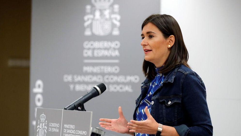 Foto: Carmen Montón en la rueda de prensa en la sede del Ministerio en la que informó sobre su dimisión. (EFE)